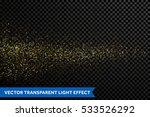 gold glittering star dust trail ... | Shutterstock .eps vector #533526292