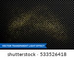 gold glitter particles on... | Shutterstock .eps vector #533526418