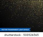 glitter particles effect. gold... | Shutterstock .eps vector #533526565