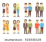set of vector gay lgbt happy... | Shutterstock .eps vector #533530135