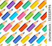 seamless pattern of colored... | Shutterstock .eps vector #533530996
