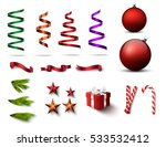 set of christmas realistic mock ... | Shutterstock .eps vector #533532412