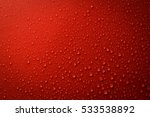 Drops Of Water On Red And Blac...