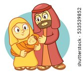 holy family cartoon | Shutterstock .eps vector #533539852