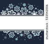 snowflakes on dark sky... | Shutterstock .eps vector #533542006