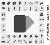 grey penalties card icon... | Shutterstock .eps vector #533547856