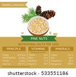 pine nuts health benefits....   Shutterstock .eps vector #533551186