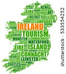 ireland map silhouette tag... | Shutterstock .eps vector #533554252
