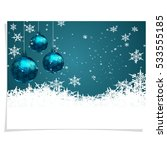 christmas  new year's card.... | Shutterstock .eps vector #533555185