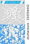 set for design 3d cityscape... | Shutterstock .eps vector #533556442