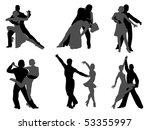 dance | Shutterstock .eps vector #53355997