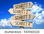 schritt 1  schritt 2  schritt 3 ... | Shutterstock . vector #533560132
