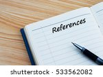 references text written on a... | Shutterstock . vector #533562082