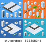 isometric set 3d city three... | Shutterstock .eps vector #533568346