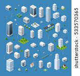 isometric set 3d city three... | Shutterstock .eps vector #533570365