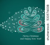 merry christmas card with... | Shutterstock .eps vector #533576038