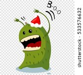 cartoon christmas monster in... | Shutterstock .eps vector #533576632