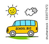school bus drawing on white... | Shutterstock .eps vector #533577472