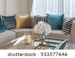 luxury living room with set of... | Shutterstock . vector #533577646