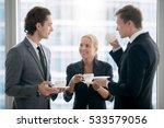 group of businessmen having tea ...   Shutterstock . vector #533579056