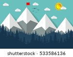 mountain and forest paper on... | Shutterstock .eps vector #533586136