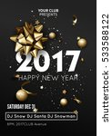 happy new year 2017 greeting... | Shutterstock .eps vector #533588122