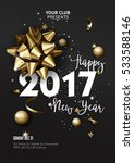 happy new year 2017 greeting... | Shutterstock .eps vector #533588146