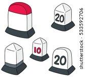 vector set of milestone | Shutterstock .eps vector #533592706