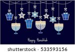 happy hanukkah greeting card or ... | Shutterstock .eps vector #533593156