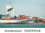 container cargo ship in the... | Shutterstock . vector #533594518