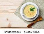 chicken and coconut milk soup...   Shutterstock . vector #533594866