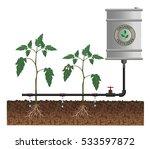 drip irrigation system  vector... | Shutterstock .eps vector #533597872