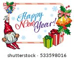 holiday label with christmas... | Shutterstock .eps vector #533598016