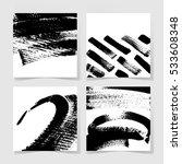 set of four black ink brushes... | Shutterstock . vector #533608348