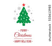 christmas background with... | Shutterstock .eps vector #533613985