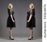 after before loss weight... | Shutterstock . vector #533618476