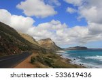 scenic road on the west side of ... | Shutterstock . vector #533619436
