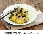 boiled potatoes with stewed... | Shutterstock . vector #533623612