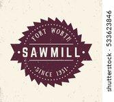 sawmill logo  emblem  badge in... | Shutterstock .eps vector #533623846