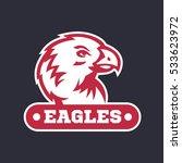 eagles logo  emblem template...   Shutterstock .eps vector #533623972