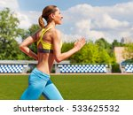 Female Runner Training Outdoor...