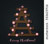 christmas lights. glowing... | Shutterstock .eps vector #533625916