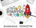 startup presentation with... | Shutterstock . vector #533633746