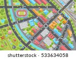 vector illustration. city view... | Shutterstock .eps vector #533634058