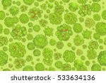 seamless pattern. forest top... | Shutterstock .eps vector #533634136