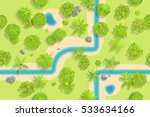 seamless pattern. forest top... | Shutterstock .eps vector #533634166
