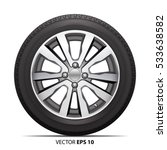 wheel alloy tire radial for car ... | Shutterstock .eps vector #533638582