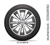 wheel alloy tire radial for car ... | Shutterstock .eps vector #533638582