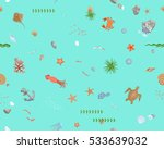 seamless pattern. the bottom of ... | Shutterstock .eps vector #533639032