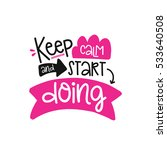vector poster with phrase decor ... | Shutterstock .eps vector #533640508